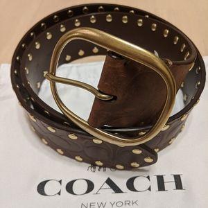 Authentic Coach Studded Belt
